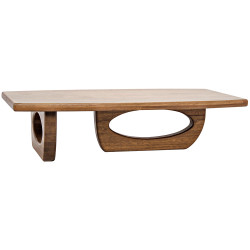 Noir Douglas Coffee Table - Dark Walnut