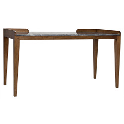 Noir Wod Ward Desk - Dark Walnut with Stone Top