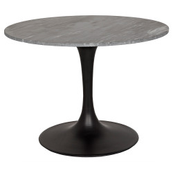 "Noir Laredo 40"" Bistro Table - Metal and Stone"