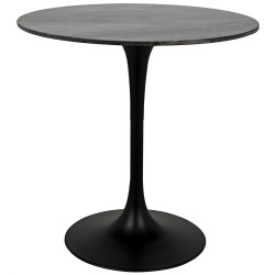 "Noir Laredo Bar Table 40"" - Black Stone Top"