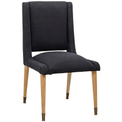Noir Lino Dining Chair - Teak