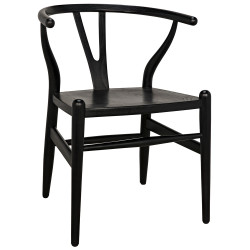 Noir Zola Chair - Charcoal Black