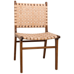 Noir Dede Dining Chair - Teak