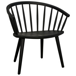 Noir Pauline Chair - Charcoal Black