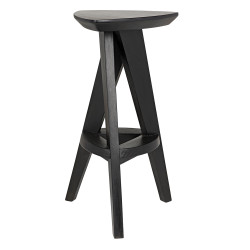 Noir Twist Counter Stool - Charcoal Black