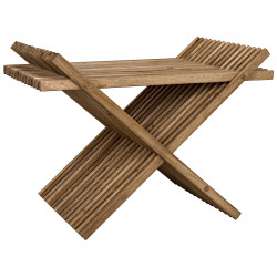 Noir Dede Folding Stool - Teak
