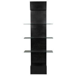 Noir Colombo Shelving - Metal W/Glass