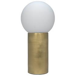 Noir New Luna Lamp - Antique Brass