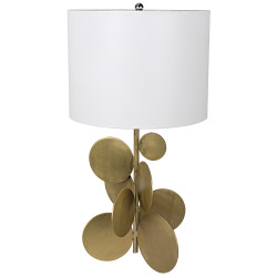 Noir Vadim Table Lamp - Antique Brass