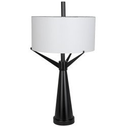 Noir Altman Table Lamp - Metal