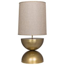 Noir Pulan Table Lamp - Antique Brass