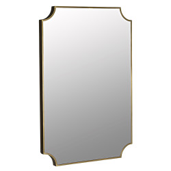 Noir Convexed Mirror - Metal w/Brass Finish