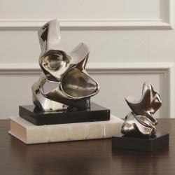 Global Views Abstract Figural Sculpture - Nickel - Lg