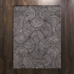 Global Views Arches Rug - Black/Ivory - 8 x 10