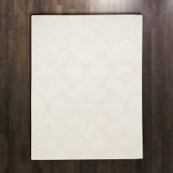 Global Views Arches Rug - Ivory/Ivory - 5 x 8