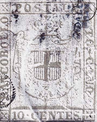 Art Classics 10 Centes Stamp Blue