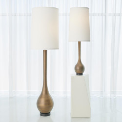 Global Views Bulb Vase Table Lamp - Light Bronze