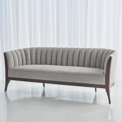 Global Views Channel Back Sofa - Silversmith Fabric
