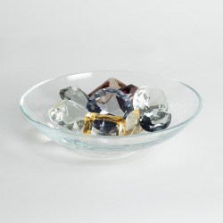 Global Views Clear Bowl w/9 Oxford Jewels - One of Each Color