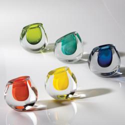 Global Views Color Drop Vase - Blueberry