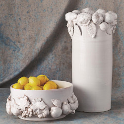 Global Views Della Robbia Round Centerpiece - Antique White