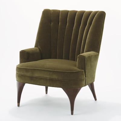 Global Views Duncan Chair - Moss Velvet
