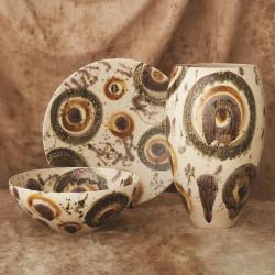 Global Views Earthtone Spots Bowl