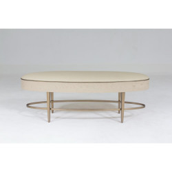 Global Views Ellipse Bench - Ivory