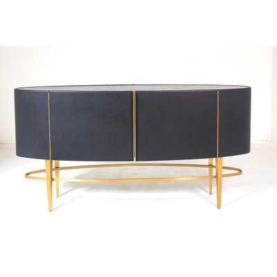 Global Views Ellipse Sideboard - Ebony