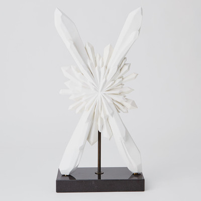 Global Views Facet Starburst Sculpture - White