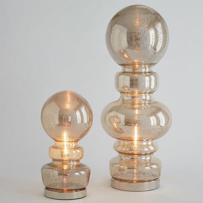 Global Views Faux Bois Lamp - White w/White Shade
