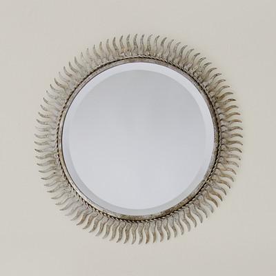 Global Views Floating Mirror - Brass Clips - Bronze Rim