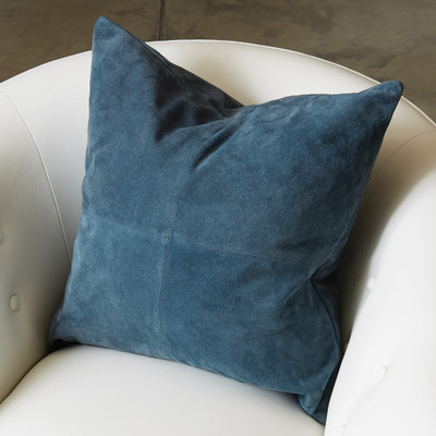 Global Views Four Square Pillow - Sapphire