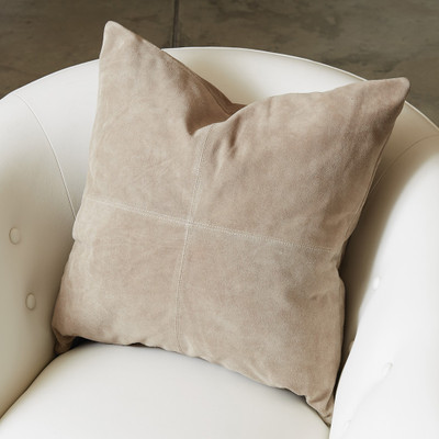 Global Views Four Square Pillow - Stone