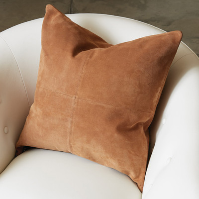 Global Views Four Square Pillow - Tan