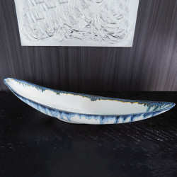 Global Views Glass Drip Canoe Bowl