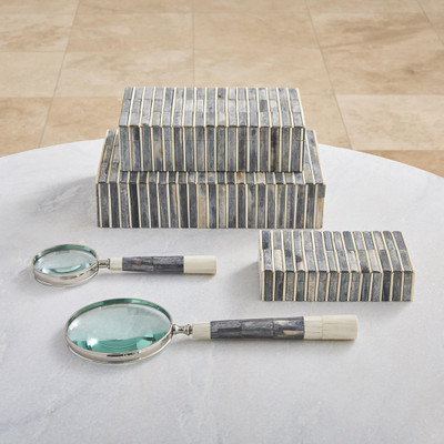 Global Views Grey/Ivory Bone Handle Magnifying Glass - Sm