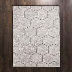 Global Views Hex Swirl Rug - 5 x 8