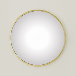 Global Views Hoop Convex Mirror - Brass - Med