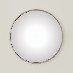 Global Views Hoop Convex Mirror - Nickel - Lg