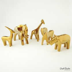 Global Views Horse - Bright Gold