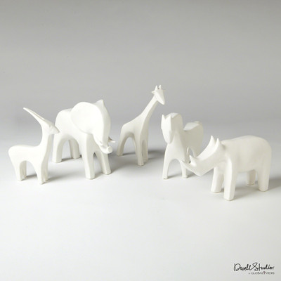 Global Views Horse - Matte White