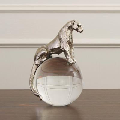 Global Views Jaguar on Crystal Sphere - Nickel