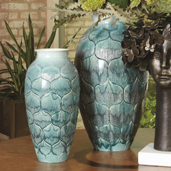 Global Views Lady Los Vase - Teal - Sm