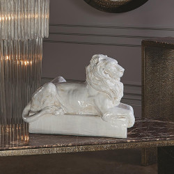 Global Views Lion Sculpture - Italian Ceramic