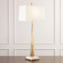 Global Views Metropolis Lamp - Brass