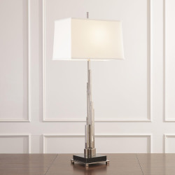 Global Views Metropolis Lamp - Nickel