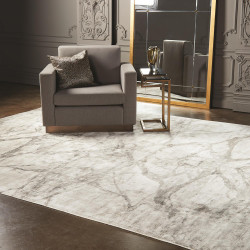 Global Views Mirror Match Marble Rug - Neutrals 6 x 9
