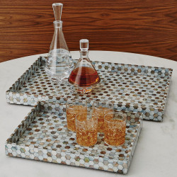 Global Views Mother of Pearl Tray - Lg