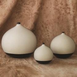 Global Views Pixelated Ball Vase - Black/Brown - Lg